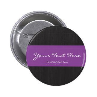 Viruta oscura y botón adaptable púrpura