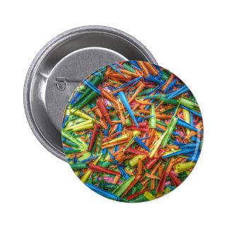 Virutas coloreadas del lápiz pin redondo 5 cm