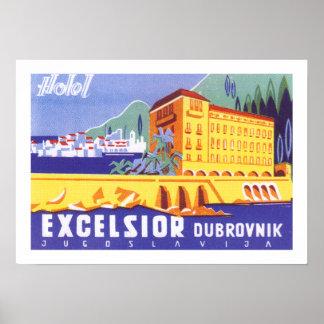 Virutas para rellenar Dubrovnik del hotel Póster
