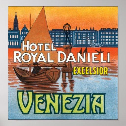 Virutas para rellenar reales Venezia de Danieli de Poster