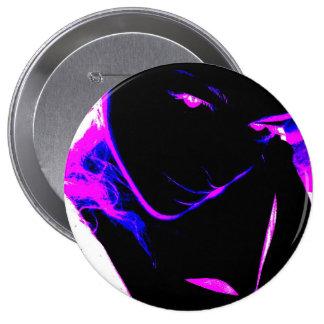 Visage Neon Pinback Button