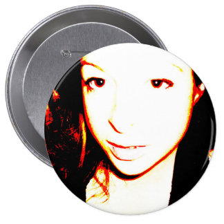 Visage Overexposed Flame Pinback Button