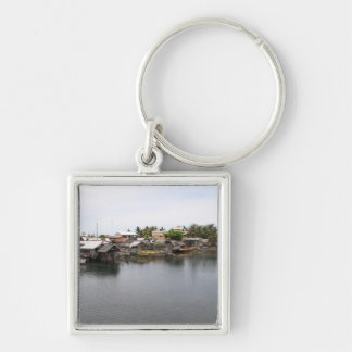 Visayan fishing village Silver-Colored square keychain