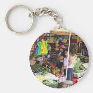 Visayan grocery store basic round button keychain