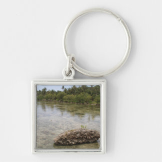 Visayas Silver-Colored Square Keychain