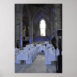 Visby Gotland Island Wedding Banquet Church Ruin Poster