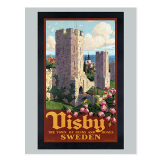 Visby Sweden - Vintage Travel Postcard