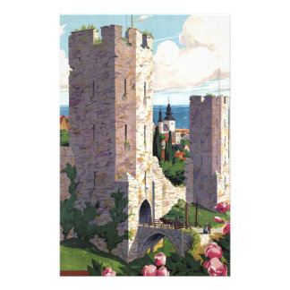 Visby Sweden - Vintage Travel Personalized Stationery
