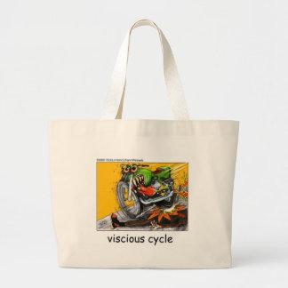 Viscious Cycle Bike Lovers Funny Gifts & Tees Canvas Bag