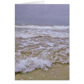 Viscious Waves Along Coast of North Carolina Card