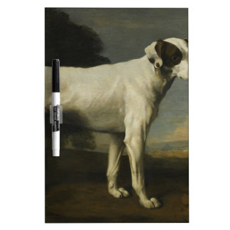 Viscount Gormanston's White Dog by George Stubbs Dry Erase Whiteboards