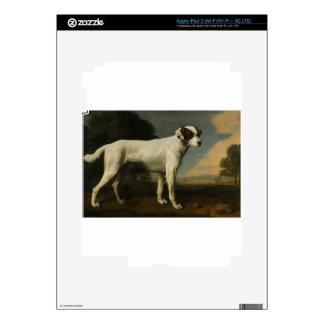 Viscount Gormanston's White Dog by George Stubbs iPad 3 Decal
