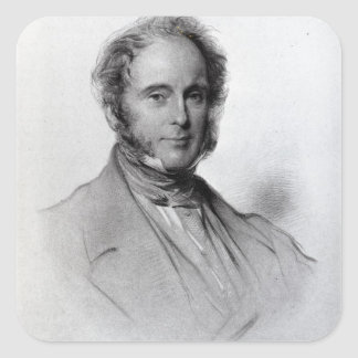 Viscount Palmerston, engraved by Emery Walker Square Sticker