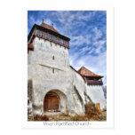 Viscri fortificó la iglesia tarjeta postal