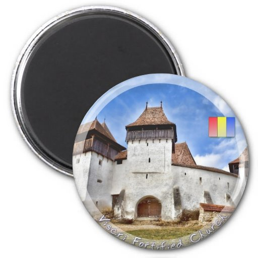 Viscri Fortified Church 2 Inch Round Magnet