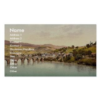 Visegrad Bosnia Austro-Hungary rare Photochrom Business Card