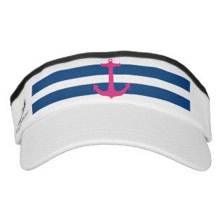 Visera náutica rosada del deporte del ancla visera