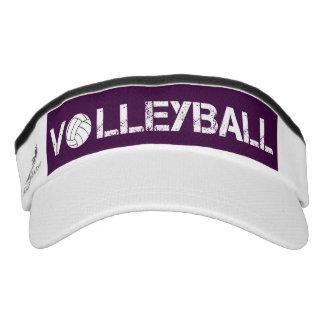 Visera púrpura y blanca del deporte del voleibol visera