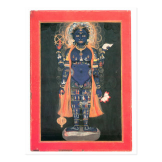 Vishnu as macrocosm postcard