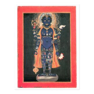 Vishnu as macrocosm postcard