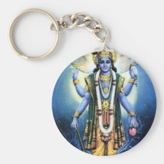 Vishnu Basic Round Button Keychain