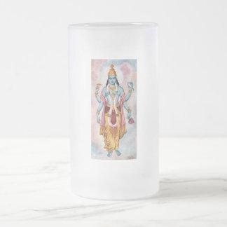 Vishnu Frosted Glass Beer Mug