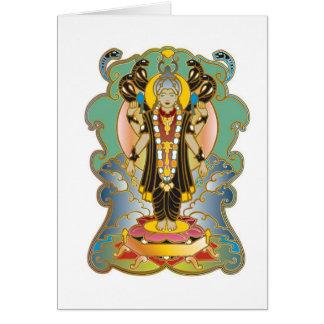 Vishnu Hindu Deity God Card