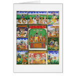 Vishnu in the centre of his ten avatars, Jaipur, R Card