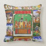 Vishnu in the centre of his ten avatars, Jaipur, R Pillow