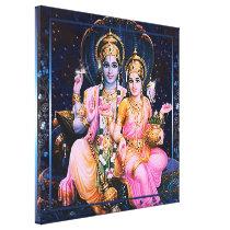 Vishnu & Lakshmi - Wrapped Canvas