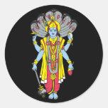 Vishnu Pegatinas Redondas