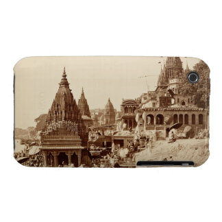 Vishnu Pud and Other Temples, Benares (sepia photo iPhone 3 Cover