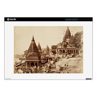 Vishnu Pud and Other Temples, Benares (sepia photo Laptop Skins