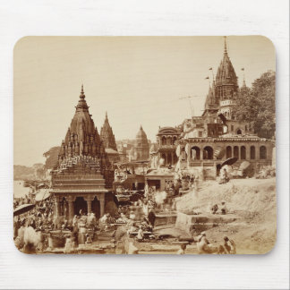 Vishnu Pud and Other Temples, Benares (sepia photo Mouse Pad