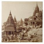 Vishnu Pud y otros templos, Benares (foto de la se Azulejo Cerámica