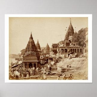 Vishnu Pud y otros templos, Benares (foto de la se Posters
