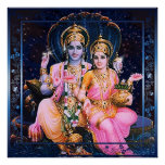 Vishnu y Lakshmi Impresiones