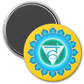 Vishuddha or Throat the 5th Chakra 3 Inch Round Magnet