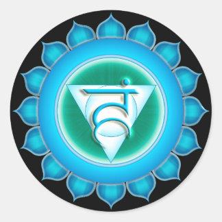 Vishuddha or Throat the 5th Chakra Classic Round Sticker
