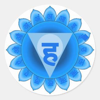 Vishuddha The Throat Chakra Classic Round Sticker