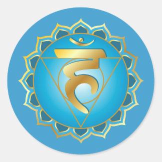 Vishuddhi o pegatina del chakra de la garganta