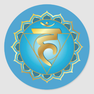 Vishuddhi or throat chakra Sticker