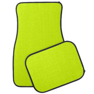 Visibilidad amarilla, alta de neón chartreuse alfombrilla de auto
