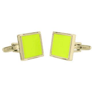 Visibilidad amarilla, alta de neón chartreuse gemelos dorados