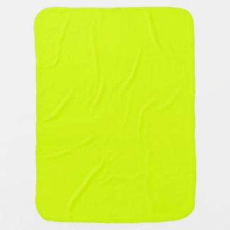 Visibilidad amarilla, alta de neón chartreuse mantas de bebé