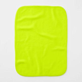 Visibilidad amarilla, alta de neón chartreuse paños para bebé