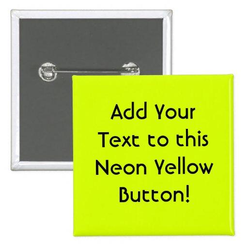 Visibilidad amarilla, alta de neón pins