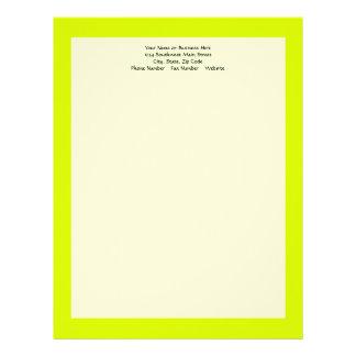 Visibilidad amarilla, alta de neón plantilla de membrete