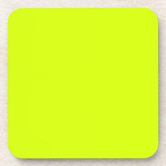 Visibilidad amarilla alta de neón posavaso