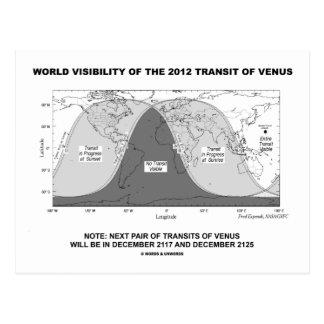 Visibilidad del mundo del tránsito 2012 de Venus Postal